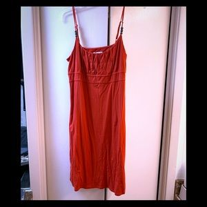 Loft orange red T-shirt dress
